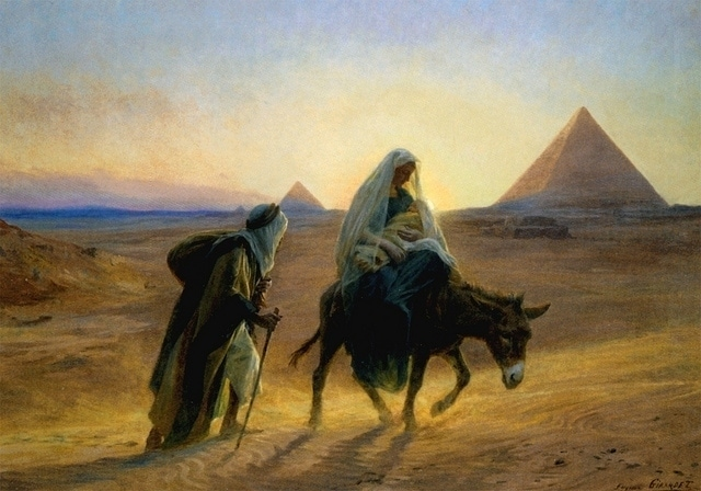 Flight into Egypt by Eugène-Alexis Girardet
