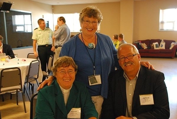 CCC President and Vice President with former VP and past moderator of the UCC, Marion Pardy. Photo by UCC.