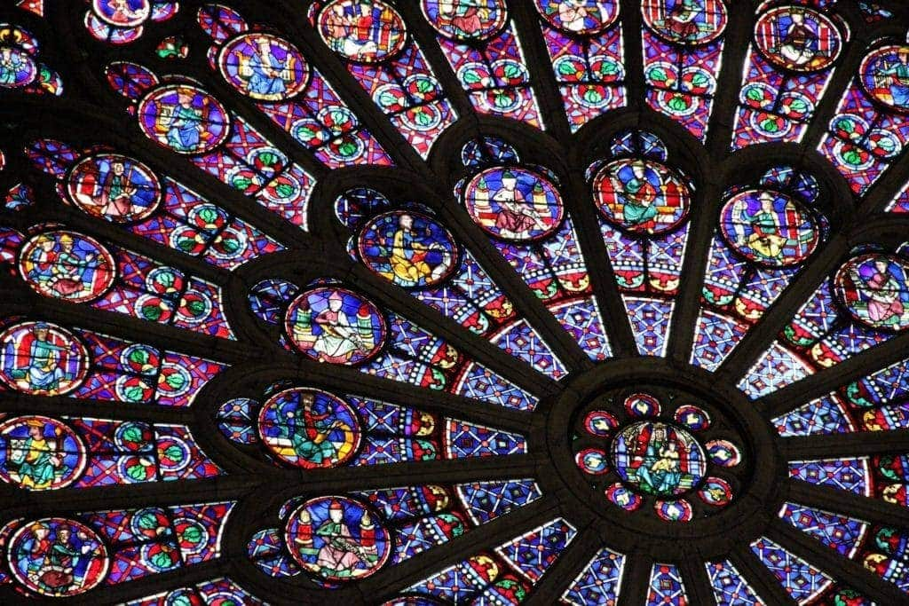 Stain-glass window from Notre Dame Cathedral