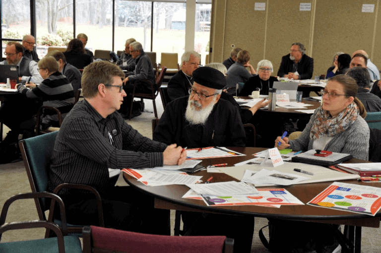 The Canadian Council of Churches remains a place of common ground for Christians in Canada today can gather and think carefully about our shared calling and work together for the common good. Featured: Paul Gehrs (ELCIC), Fr. Ammonius Guirgis (Coptic Orthodox Archdiocese of North America), and ??? (November 2019 Governing Board meeting).