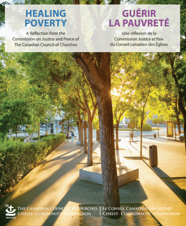 The cover of Healing Poverty, a reflection on poverty by the CCC