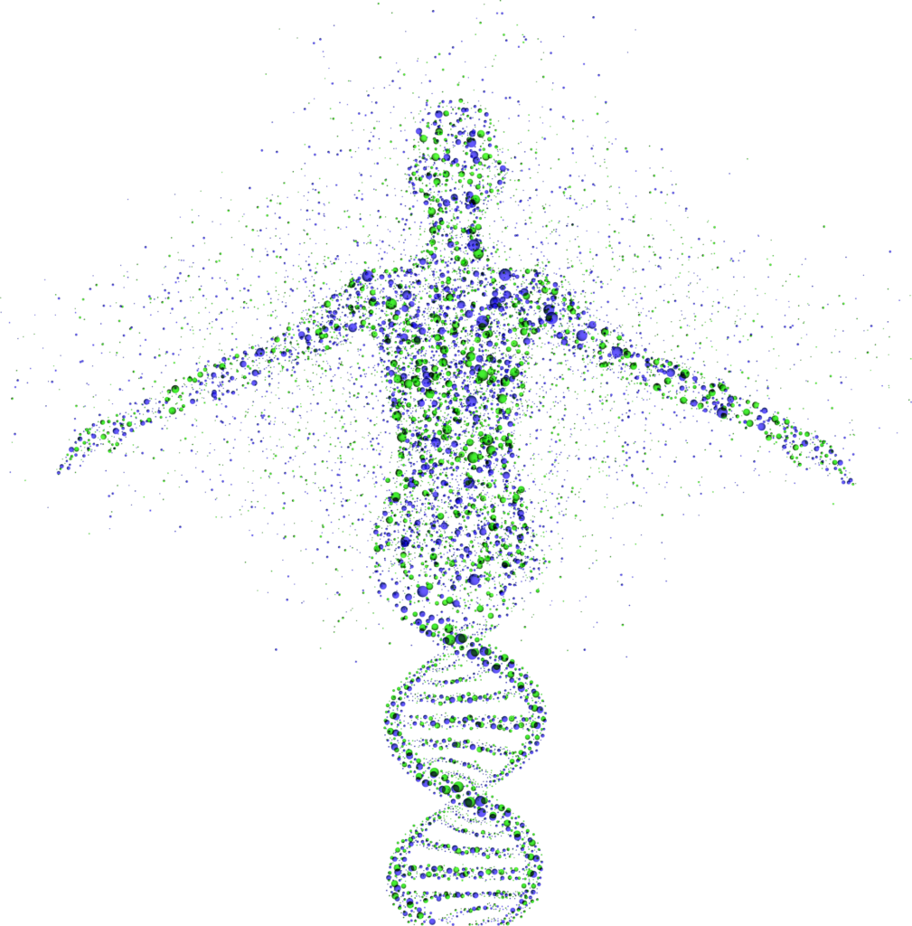 DNA in the shape of a human