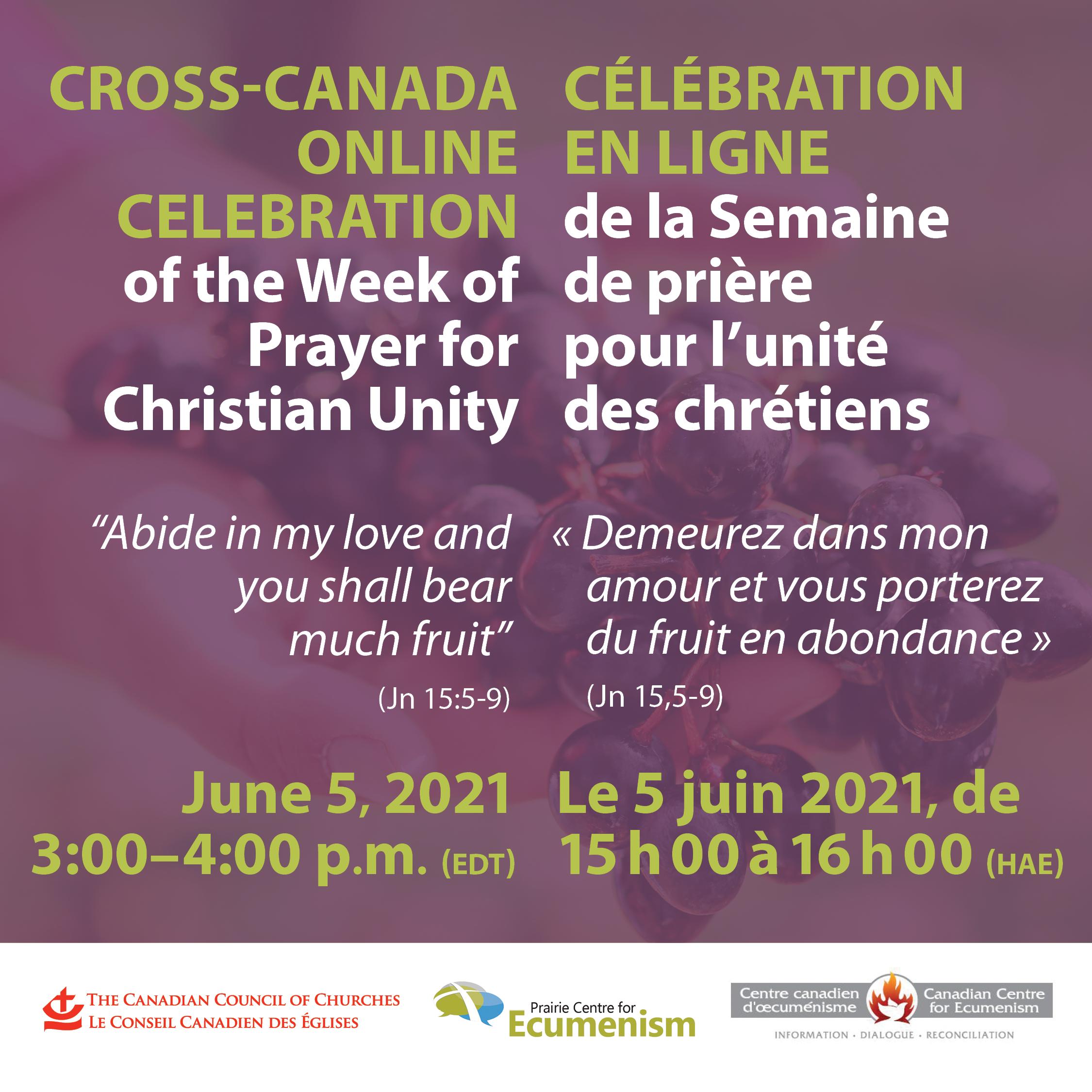 Online Celebration of the Week of Prayer for Christian Unity